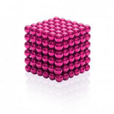 Neocube 216 bile magnetice 5mm, joc puzzle, culoare roz, peste 14 ani