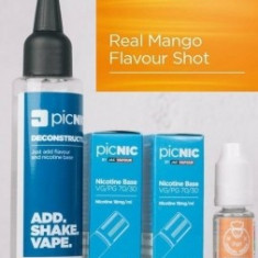 Lichid Tigara Electronica Premium Jac Vapour Real Mango 70ml, Nicotina 5,1mg/ml, 80%VG 20%PG, Fabricat in UK, Pachet DiY