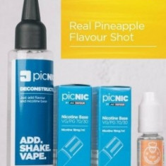 Lichid Tigara Electronica Premium Jac Vapour Real Pineapple 70ml, Nicotina 5,1mg/ml, 80%VG 20%PG, Fabricat in UK, Pachet DiY
