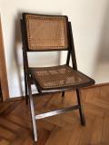 Scaun vechi,pliabil,francez,din lemn