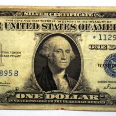 226 USA SUA SILVER CERTIFICATE 1 ONE DOLLAR 1935 B SR. 895 STEA STAR NOTE