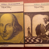Teatru. 2 Vol. Colectia Lyceum - William Shakespeare, Alta editura