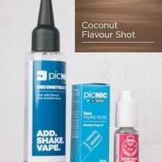 Lichid Tigara Electronica Premium Jac Vapour Coconut 60ml, Nicotina 3mg/ml, 80%VG 20%PG, Fabricat in UK, Pachet DiY