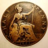 2.632 MAREA BRITANIE ANGLIA GEORGE V 1/2 HALF PENNY 1924, Europa, Bronz
