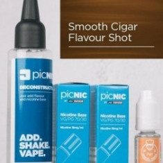 Lichid Tigara Electronica Premium Jac Vapour Smooth Cigar Tobacco 70ml, Nicotina 5,1mg/ml, 80%VG 20%PG, Fabricat in UK, Pachet DiY