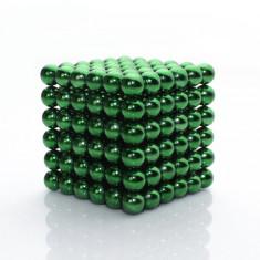 Neocube 216 bile magnetice 5mm, joc puzzle, culoare verde, peste 14 ani