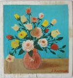 Tablou Diaconu Dumitru Flori 1 - 21.5 x 19.8 cm