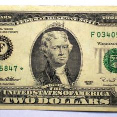 262 USA SUA 2 TWO DOLLARS 1995 SR. 847 STEA STAR NOTE