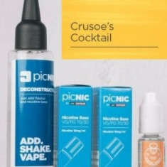 Lichid Tigara Electronica Premium Jac Vapour Crusoe's Cocktail 70ml, Nicotina 5,1mg/ml, 80%VG 20%PG, Fabricat in UK, Pachet DiY