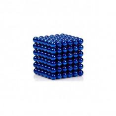 Neocube 216 bile magnetice 5mm, joc puzzle, culoare albastru, peste 14 ani