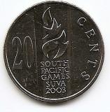 Fiji 20 Centi 2003 South Pacific Games KM-95 UNC !!!, Australia si Oceania