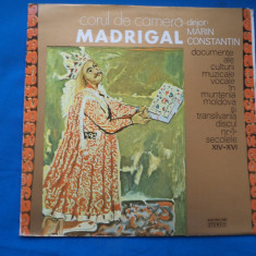 VINIL MUZICA CORALA-MADRIGAL, electrecord