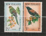 NOUA ZEELANDA 1962 - FAUNA. PASARI. SERIE NESTAMPILATA, A26, Nestampilat