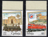 SERBIA 2009, Locomotive, serie neuzata, MNH, Transporturi, Nestampilat