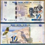 !!!  BOLIVIA  -  10   BOLIVARES  2018  -  P NEW  -  UNC / SERIA  A