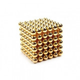 Neocube 216 bile magnetice 5mm, joc puzzle, culoare auriu