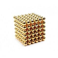 Neocube 216 bile magnetice 5mm, joc puzzle, culoare auriu, peste 14 ani