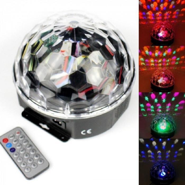 Glob Disco cu joc de lumini si telecomanda + briceag de buzunar cadou