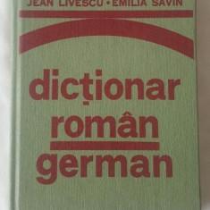 Jean Livescu si Emilia Savin - Dictionar Roman - German