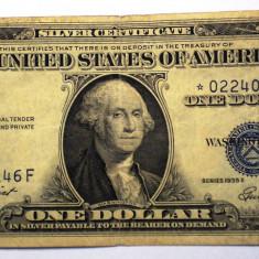 106. USA SUA SILVER CERTIFICATE 1 ONE DOLLAR 1935 E SR. 146 STEA STAR NOTE