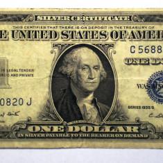 107. USA SUA SILVER CERTIFICATE 1 ONE DOLLAR 1935 G SR. 820