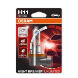 Bec Osram H11 12V 55W Night Breaker Unlimited 64211NBU-01B
