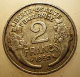 2.729 FRANTA 2 FRANCS FRANCI 1959, Europa, Aluminiu