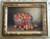 Tablou Diaconu Dumitru Capsuni 4 - 35.0 x 24.5 cm