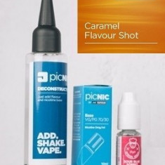Lichid Tigara Electronica Premium Jac Vapour Caramel 60ml, Nicotina 3mg/ml, 80%VG 20%PG, Fabricat in UK, Pachet DiY