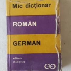 Mic dictionar Roman - German