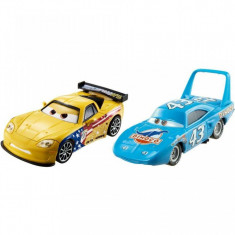 "Set de masinute metalice ""Regele"" Strip Weathers si Jeff Gorvette Disney Cars 3"