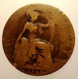 2.602 MAREA BRITANIE ANGLIA GEORGE V 1/2 HALF PENNY 1919?, Europa, Bronz