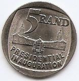 Africa de Sud 5 Rand 1994 - (Presidential inauguration)  26 mm, KM-150 UNC !!!