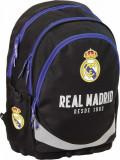 Ghiozdan Ergonomic Scoala FC Real Madrid cu 3 compartimente 42 cm