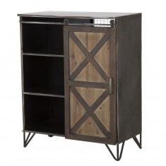 Cabinet din metal si lemn cu usa culisanta Seattle