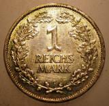F.457 GERMANIA WEIMAR 1 REICHSMARK 1925 G ARGINT 5g, Europa