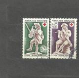 Franta 1967 - CANTARETI, CRUCEA ROSIE. EUROPA CEPT, 2 serii stampilate, B30