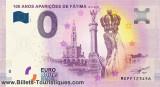 X. RARR : 0 EURO SOUVENIR - FATIMA - 100 ANI APARITIE FECIOARA MARIA 2017 - UNC