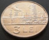Moneda 3 Lei - RS ROMANIA, anul 1966  *cod 2184 =  Perfect UNC
