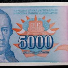 Iugoslavia 5000 5.000 Dinara 1994 UNC necirculata  **