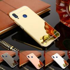 Husa / Bumper aluminiu + spate acril oglinda pentru Huawei P20 / P20 lite, Alt model telefon Huawei, Argintiu, Auriu, Negru, Roz