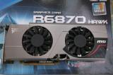 Placa video Gaming MSI HD6870 Hawk 1gb ddr5 / 256 bits DX11, PCI Express, 1 GB, Ati