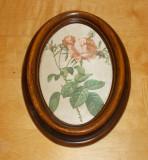 Tablou matase - decorativ / de colectie - rama de lemn
