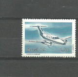 BRAZILIA 1979 - AVION BIMOTOR TRANSPORT PASAGERI, timbru MNH, B30