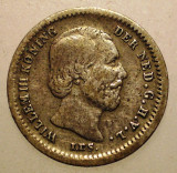 F.175 OLANDA WILLEM III 5 CENTS 1850 ARGINT 0,65g/13mm, Europa