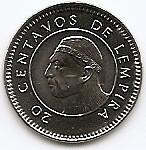 Honduras 20 Centavos 1999 - 17.8 mm, KM-83a2  UNC !!!, America de Nord