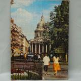 Cumpara ieftin TABLOU VECHI - PUZZLE PE PLACAJ DE CARTON - PEISAJ CITADIN - STRADA DIN PARIS