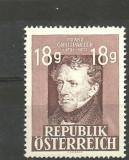 Austria 1947 - POET FRANZ GRILIPARZER, timbru nestampilat, B30