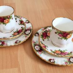 Set mic dejun - portelan Englezesc - Royal Albert - Old country rose - 2 pers