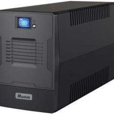 UPS Mustek PowerMust 2000 LCD Line Interactive, 2000VA/1200W, 2x IEC, 2x Schuko (Negru)